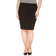 Worthington® Curvy-Fit Pencil Skirt - Plus