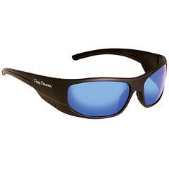 Fly Fish Cape Horn Sunglasses Mt Black Smk Blue Mirror