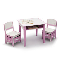 Jack & Jill Storage Table and Chair Set - Pink and White