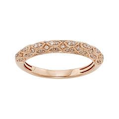 1/5 CT. T.W. Certified Diamond 14K Rose Gold Wedding Band