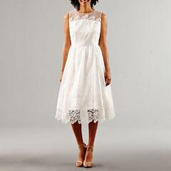 Melrose Sleeveless Fit & Flare Wedding Dress