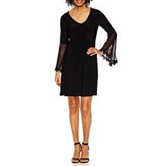 MSK 3/4 Bell Sleeve Shift Dress