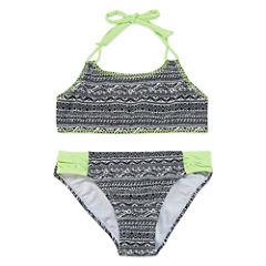 Breaking Waves GirlsTribal Stitch BikiniSet - Big Kid