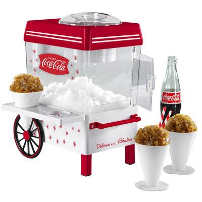 nostalgia scm550coke cocacola snow cone maker u0026 shaved ice storage - Snow Cone Machines