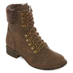 2 Lips Too Folsom Womens Combat Boots