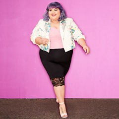 Ashley Nell Tipton for Boutique + Motorcycle Jacket-Plus