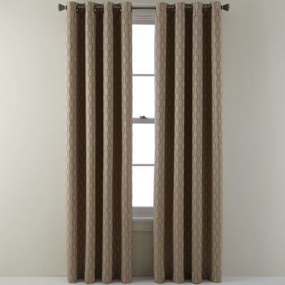 studio luna grommettop lined textured blackout curtain panel - Blackout Curtain