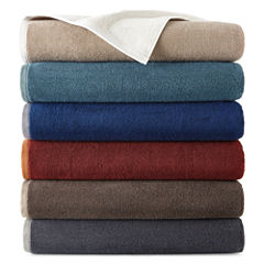 JCPenney Home™ Yarn-Dyed Reversible Bath Towels