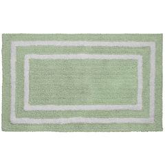 Jean Pierre Double Border Reversible Cotton Bath Mat