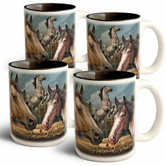 American Expedition Collage Coffee Mugs - Mustang4pc