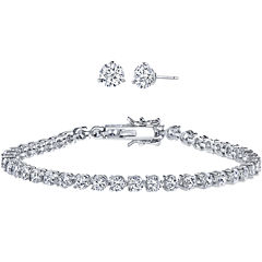 DiamonArt® 10 CT. T.W. Cubic Zirconia Earring and Bracelet Set