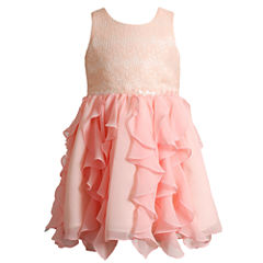 Young Land SleevelessCorkscrew Dress- Toddler Girls