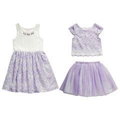 Young Land 3-pc. Skirt Set Preschool Girls