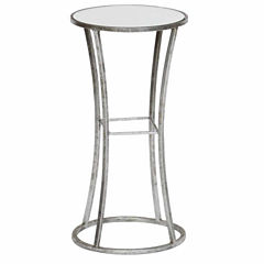 Mirror Top Chairside Table