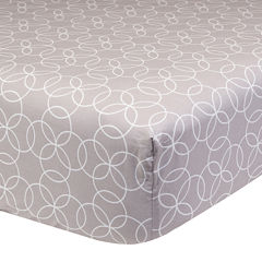 Trend Lab® Gray Circles Fitted Crib Sheet