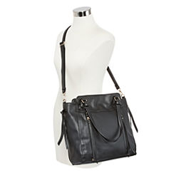 Louis Cardy Front Zipper Detailed Tote Bag