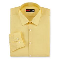 JF J.Ferrar Long Sleeve Woven Dress Shirt - Slim