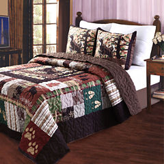 Greenland Home Fashions Whitetail Lodge 3-pc. Quilt Set
