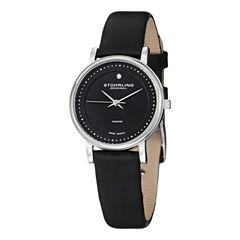 Stuhrling Mens Black Strap Watch-Sp11337