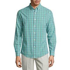 Dockers Long Sleeve Poplin Button-Front Shirt