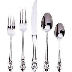 Ginkgo Fleur De Lis 20-pc. 18/10 Stainless Steel Flatware Set