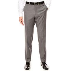 Men's J.Ferrar Stretch Gray Sharkskin Slim-Fit Pants