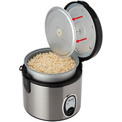 Aroma® 8-Cup Stainless Steel Rice Cooker