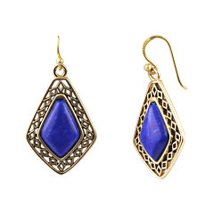 Art Smith by BARSE Genuine Dark Blue Howlite Drop Earrings
