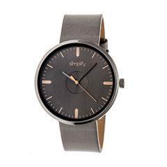 Simplify The 4500 Unisex Brown Strap Watch-Sim4506
