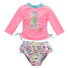 Candlesticks Seahorse Rash Guard Set - Baby