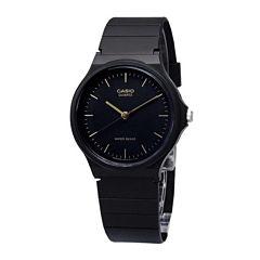 Casio® Mens Black Dial Black Resin Strap Watch MQ24-1ELLUB