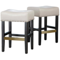 White Leather Barstools white bar stools for the home - jcpenney