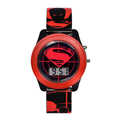 DC Comics® Batman vs. Superman LCD Flash Dial with Printed Red Superman Watch
