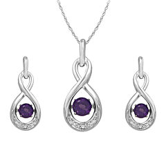 Love in Motion™ Genuine Amethyst & Lab-Created White Sapphire Sterling Silver Infinity 2-pc. Boxed Jewelry Set