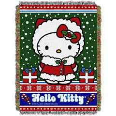 Hello Kitty Holiday Tapestry Throw