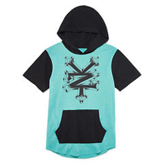 Zoo York Short Sleeve Hooded Neck T-Shirt-Big Kid Boys