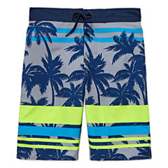Arizona Boys Palm Tree Swim Trunks-Big Kid