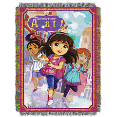 Nickelodeon Dora and Friends Tapestry Throw