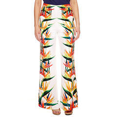 Bisou Bisou Pattern Palazzo Pants with Side Slits