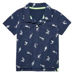 Arizona Polo Short Sleeve Pattern Polo Shirt - Baby Boys