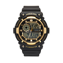 Casio Mens Black Strap Watch-Aeq200w-9av