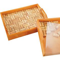 Wine Enthusiast® Wine Cork Serving Tray Kit