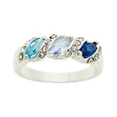 Sparkle Allure Multi Color Solitaire Ring