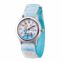 Disney Cinderella Girls Blue Strap Watch-Wds000058