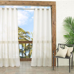 Parasol Summerland Key Indoor/Outdoor Sheer Grommet-Top Curtain Panel