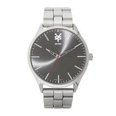 Zoo York® Mens Silver-Tone Black Bracelet Watch
