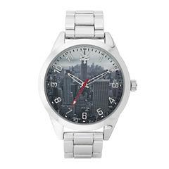 Zoo York® Mens Silver-Tone Graphic Bracelet Watch