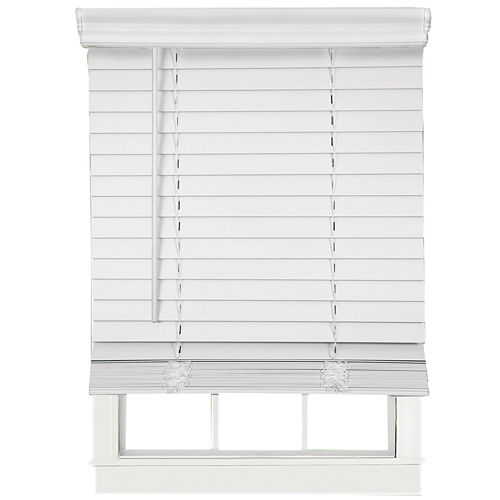 Cut-to-Width 2 Cordless Faux-Wood Blinds