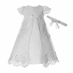 Keepsake Short Sleeve Cap Sleeve Dress Set - Baby Girls