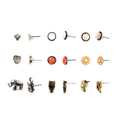 Arizona 18-pc. White Earring Sets